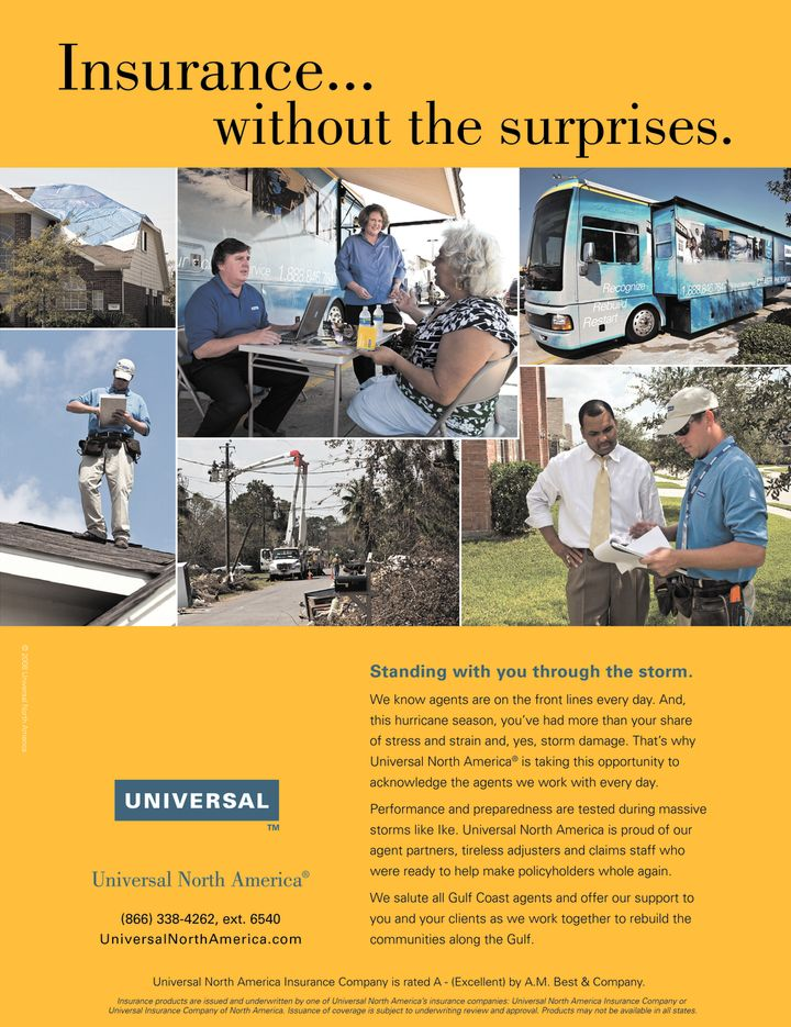 Universal North America ad in Insurance Journal